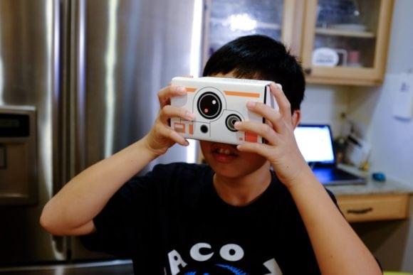 """Google Cardboard BB-8"" USA. Texas. Cedar Park. 2015."