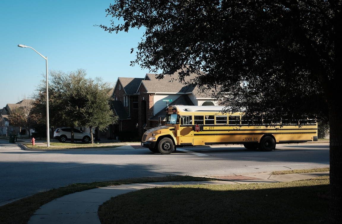 """School Bus"" USA. Texas. Cedar Park. 2016."