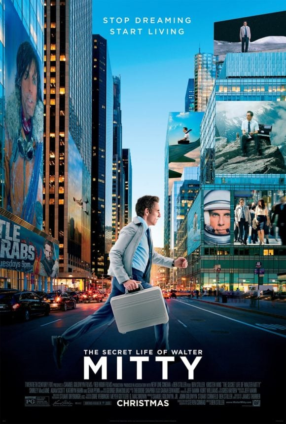 The Secret Life of Walter Mitty (Movie Poster)
