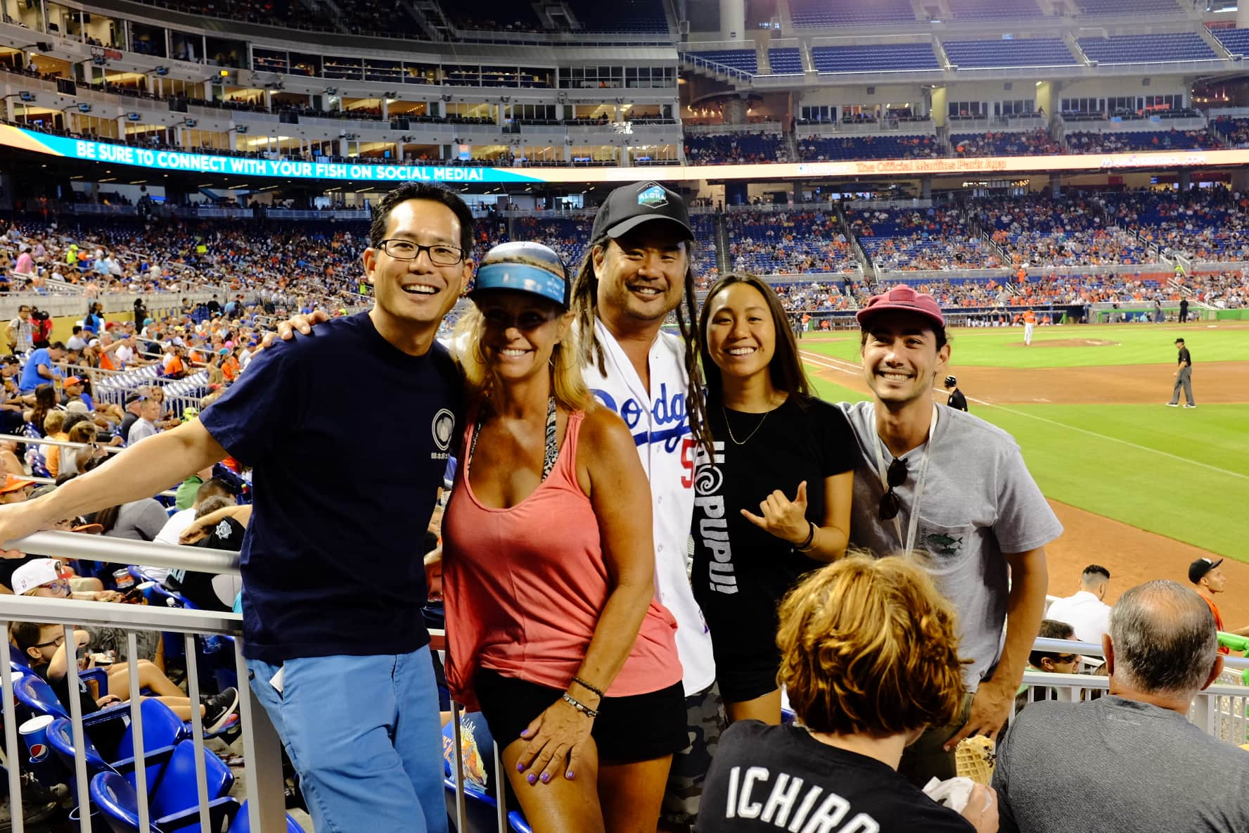 """At the Marlins Game"" Miami, 2016"