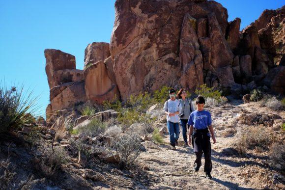 """Hiking Grapevine Trail"" Big Bend, 2016"