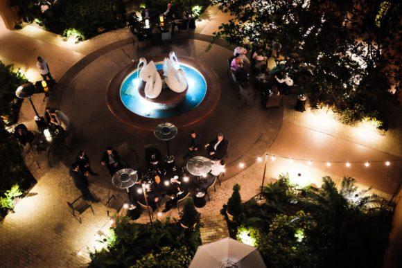 """Swan Hotel Courtyard"" Orlando, 2017"