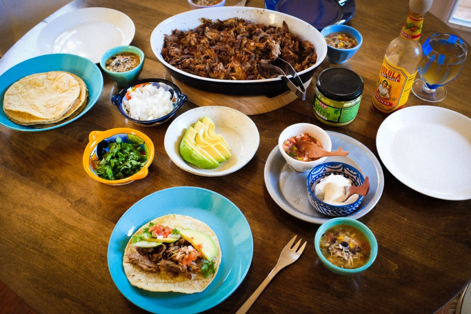 """Carnitas Taco Dinner"" Cedar Park, 2017"