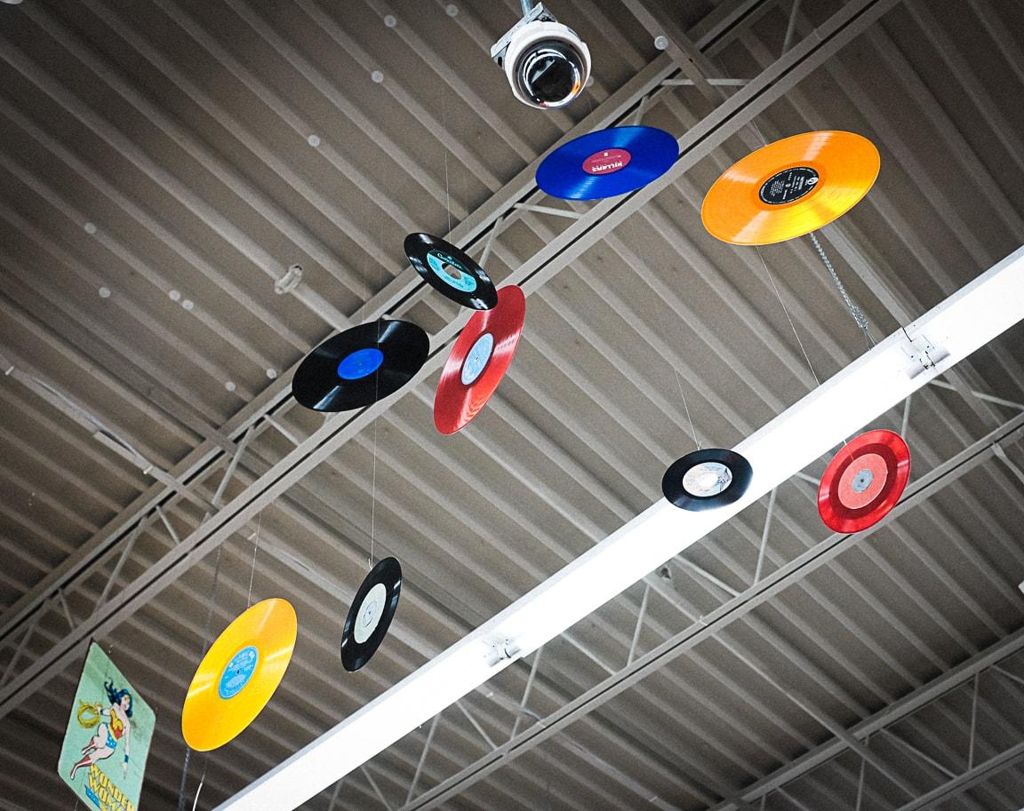 """Hanging Vinyl"" Cedar Park, 2018"