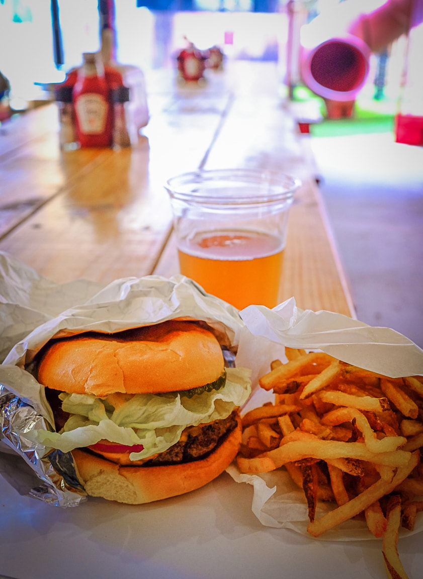 """Burger, Fries, and Beer"" Austin, 2018"