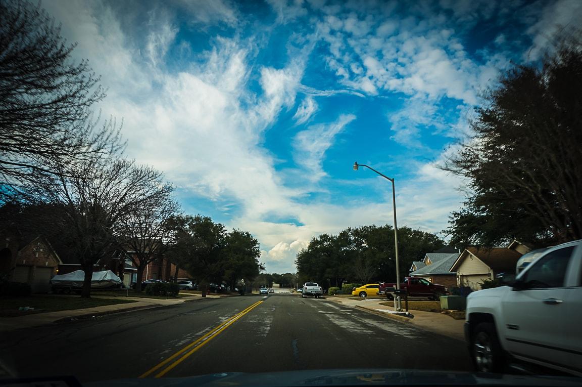 """Blue Skies"" Cedar Park, 2018"