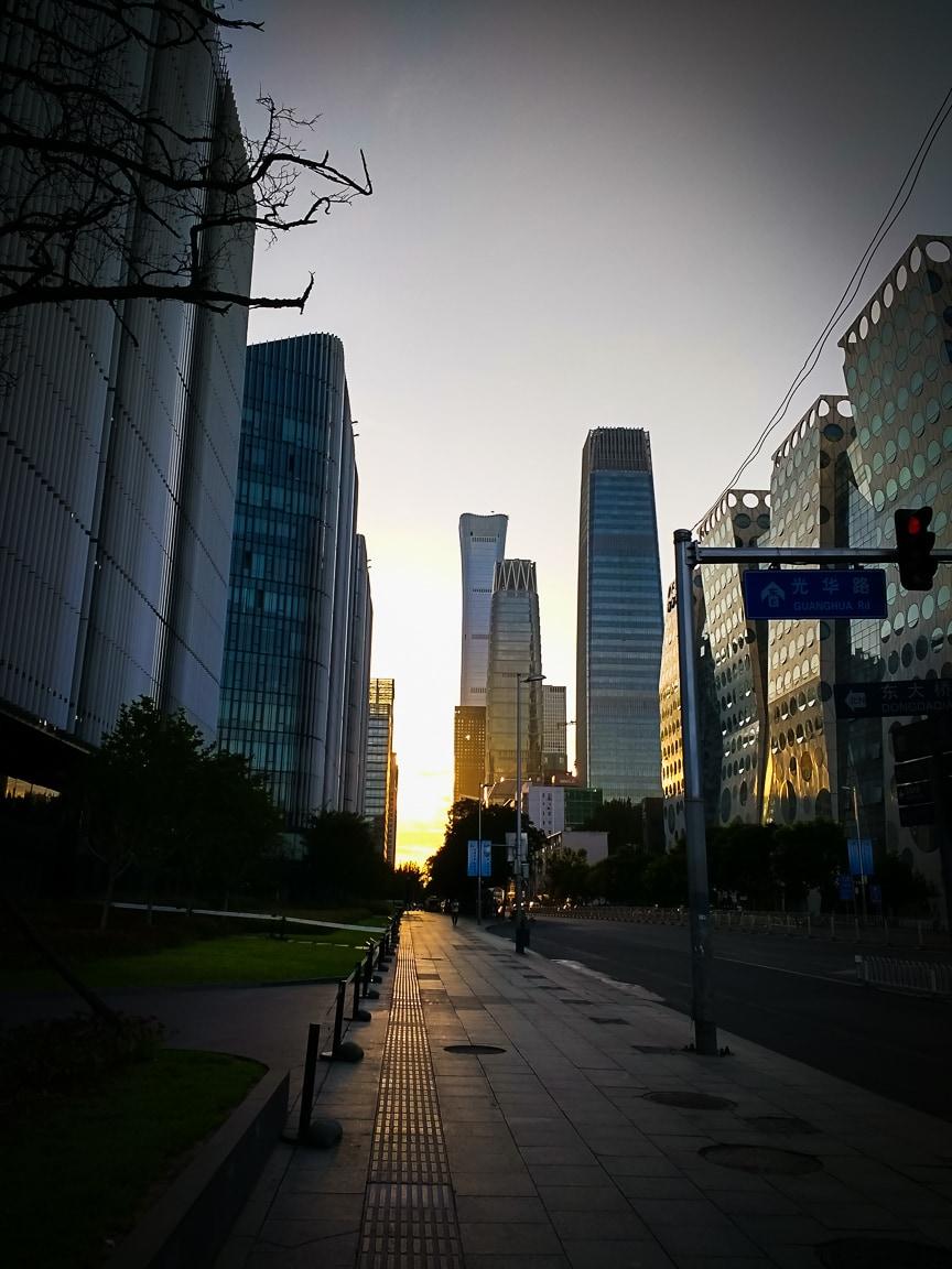 """""""Sunrise Over the City"""" Beijing, 2018"""