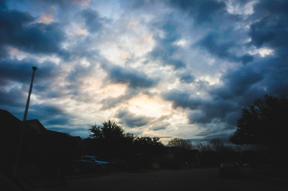 """Cloudy Morning"" Cedar Park, 2019"