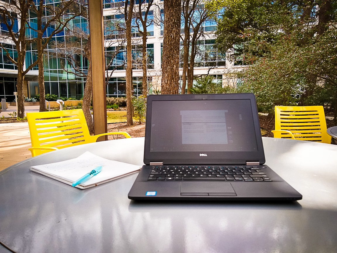 """Working Outdoors"" Austin, 2019"