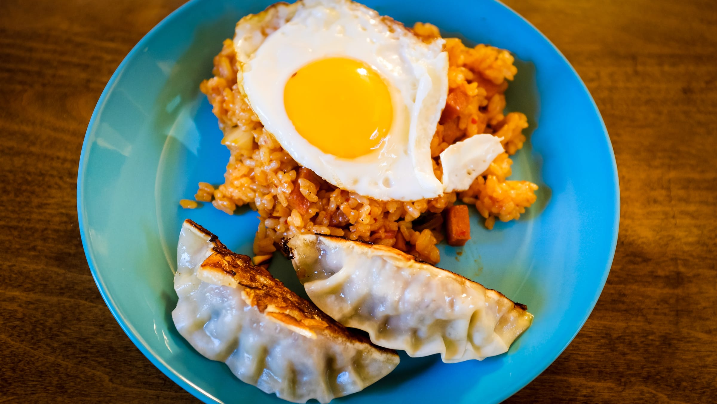 """Kimchee Fried Rice and Gyoza"" Cedar Park, 2019"