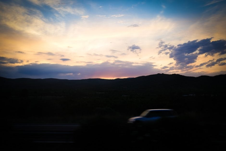 """Sunset from the Bus"" Spain, 2017"