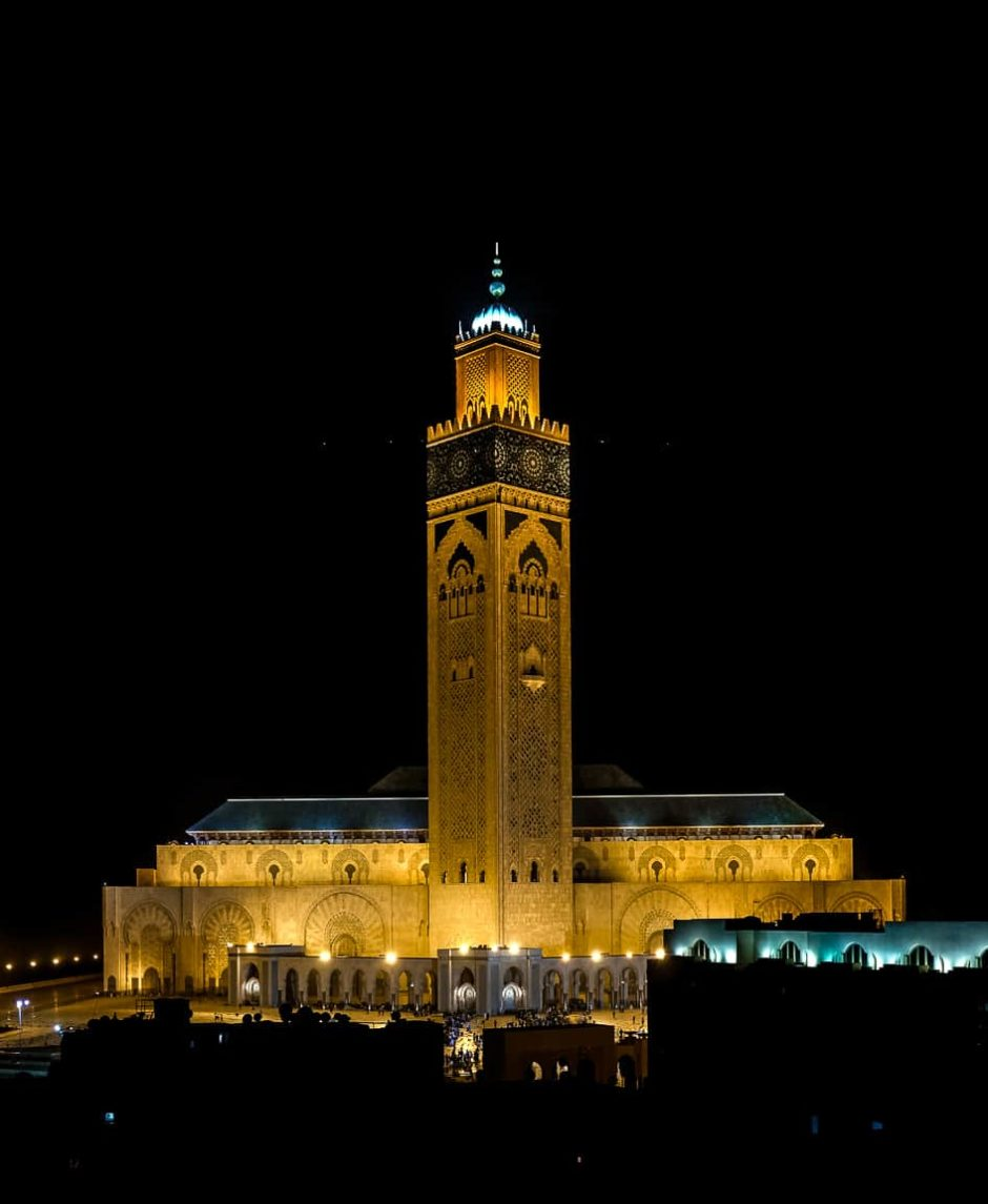 """Mosque at Night"" Casablanca, 2017"