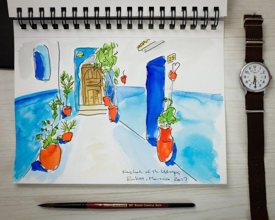 """Kasbah Watercolor"" Cedar Park, 2017"