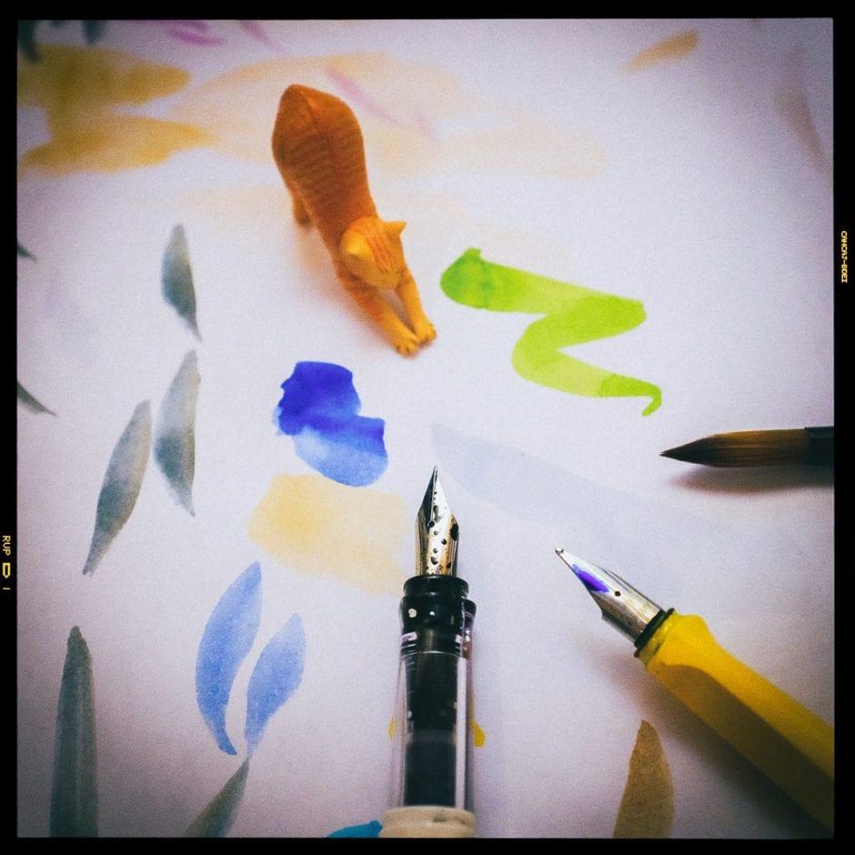 """""""Pens & Brushes vs. Kitty"""" Cedar Park, 2017"""