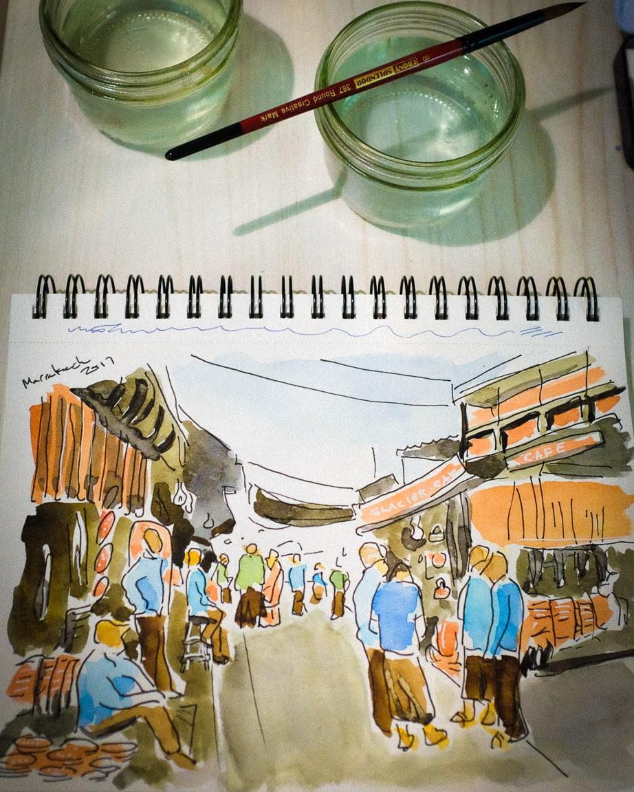 """Marrakech Sketch"" Cedar Park, 2017"
