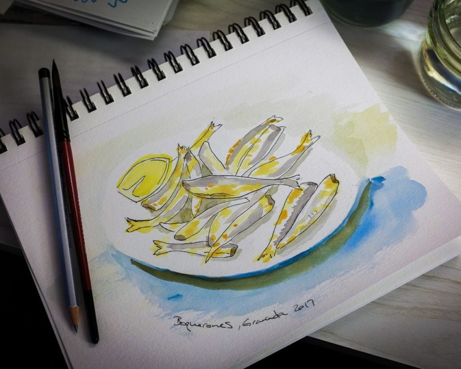 """Boquerones Watercolor"" Cedar Park, 2017"