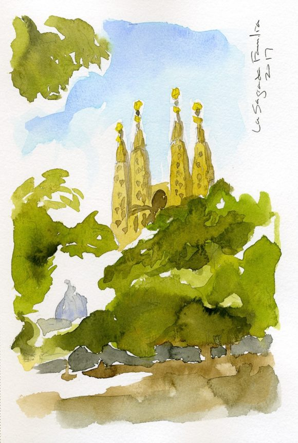 """La Sagrada Watercolor"" Cedar Park, 2017"